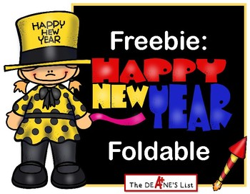 Freebie: Happy New Year Foldable