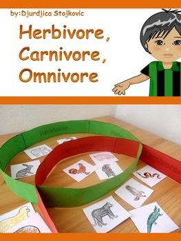 Freebie!  Herbivore, Omnivore, Carnivore