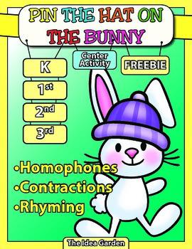 Freebie - Homophones/Contractions/Rhyming