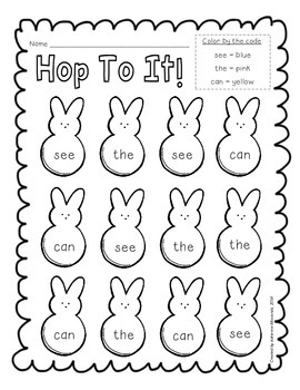 {Freebie!} Hop to it! (sight word recognition)