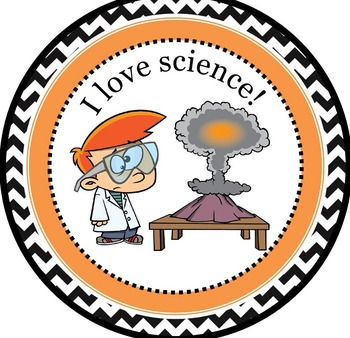 Freebie - I Love Science Cartoon Badge - Gamify your classroom!