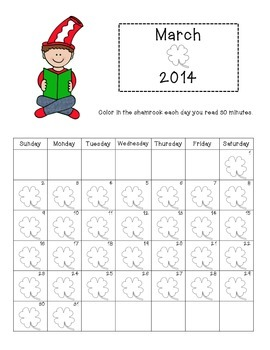 {Freebie} I Love To Read Month Activity Packet