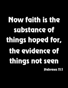 {Freebie} Bible Verse Poster- Faith