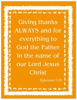 {Freebie} Instant Bible Verse Poster- Giving Thanks