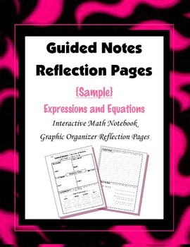 (Freebie) Interactive Math Notebook {Reflection}:  Express