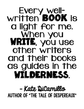 Freebie! Kate DiCamillo Author Quote Art - The Tale of Despereaux
