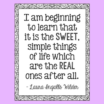 Freebie! Laura Ingalls Wilder Quote Poster, Little House i