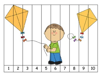 Freebie- Letter of the Week- K is for Kite 1-10 Puzzle