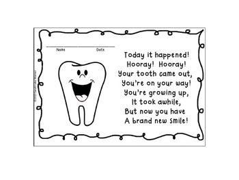 {Freebie!} Lost Tooth Certificate