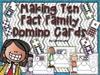 Freebie Making Ten Fact Family Number Bond Cards