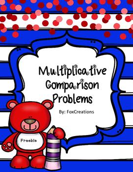 Freebie! Math Printables Multiplicative Comparison