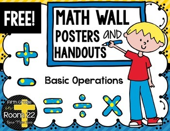 Freebie! Math Symbols Posters and Handouts- Basic Operations