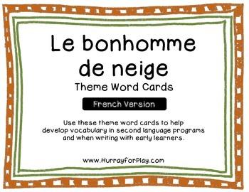 Freebie: Snowman Theme Word Cards (French)