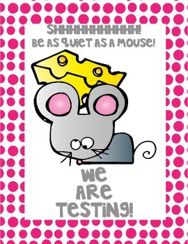 """Freebie Mouse """"Testing"""" Poster"""