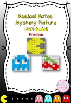 Freebie- Musical Notes Mystery Picture (Pac Man)