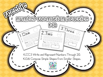 Freebie Number Formation Practice {1-10}
