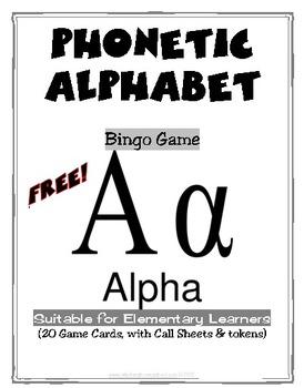 Freebie Phonetic Alphabet 2 Full Bingo Games