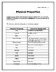 Freebie! Physical Properties Graphic Organizer