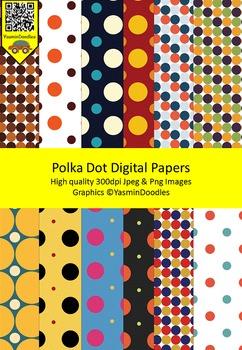 {Freebie} Polka Dots Digital Papers