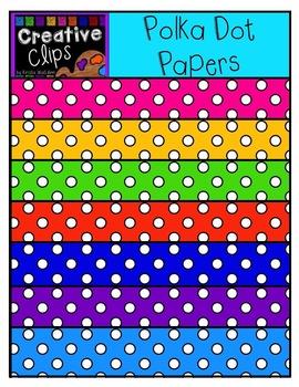 Freebie! Polka Dot Papers {Creative Clips Digital Clipart}