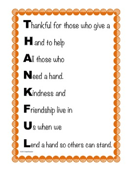 Freebie Poster: Thankful