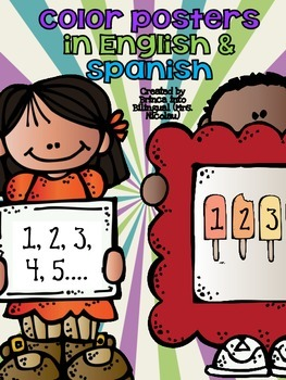 Freebie Posters: Numbers - numeros in Engl and Span