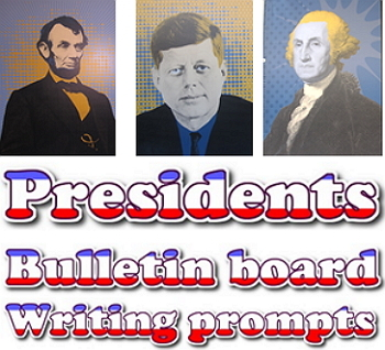 Freebie: Presidents writing prompts & quick edits