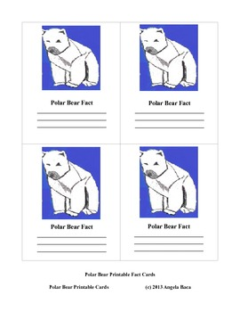Polar Bear Cards A to Z 1 to 20