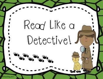 Freebie - Read Like a Detective Poster