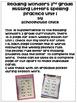 Freebie- Reading Wonders 2nd Grade Spelling Unit 1