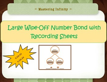 *Freebie*  Reusable Number Bonds Handout w/ Recording Sheet