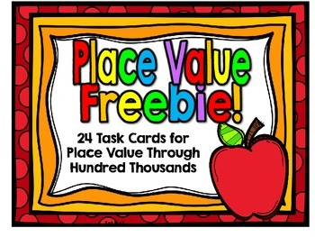 Freebie-SOL 3.1a Place Value Through Hundred Thousands