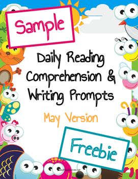 Freebie Sample Daily Reading Comprehension and Writing Pro