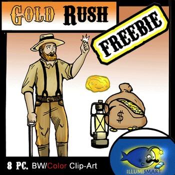 "Secondary 8 pc. Clip-Art ""Gold Rush!"""