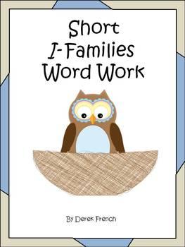 Freebie - Short I Word Families Word Work