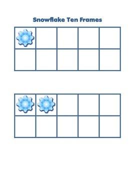 Freebie Winter Snowflake Ten Frames