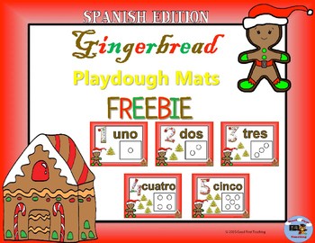 Freebie: Spanish Gingerbread Number Sense Playdough Mats 1-5