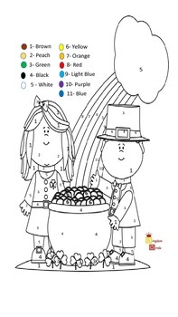 Freebie: St. Patrick's Day Color by Number