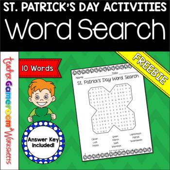 Freebie - St. Patrick's Day Word Search