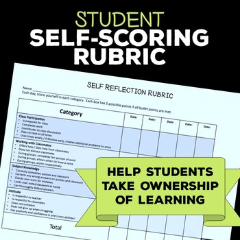 Student Reflection Rubric