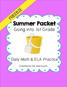 Freebie: Summer Review Packet - Going into 1st Grade