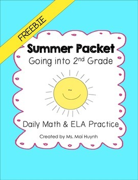 Freebie: Summer Review Packet - Going into 2nd Grade