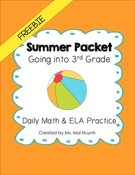 Freebie: Summer Review Packet - Going into 3rd Grade
