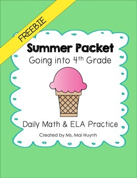Freebie: Summer Review Packet - Going into 4th Grade