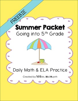 Freebie: Summer Review Packet - Going into 5th Grade