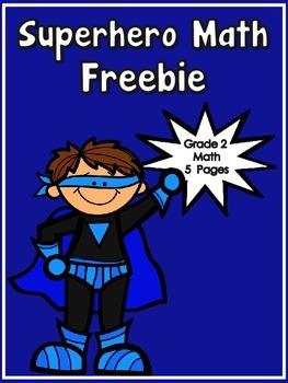 Freebie - Superhero Math Printables - Grade 2