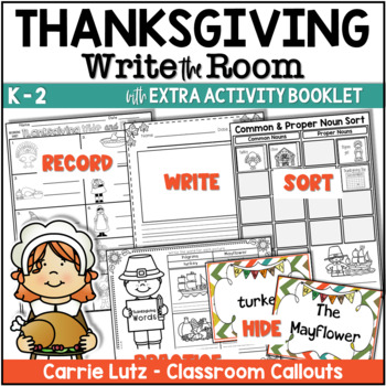 Freebie THANKSGIVING Words WRITE THE ROOM
