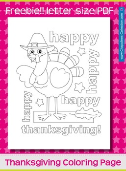 Freebie Thanksgiving Coloring Page
