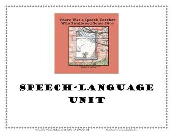 Freebie There Was a Speech Teacher Speech and Language Unit