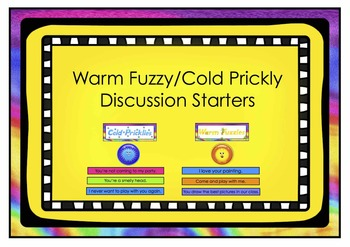 Freebie Warm Fuzzy/Cold Prickly Discussion Starters